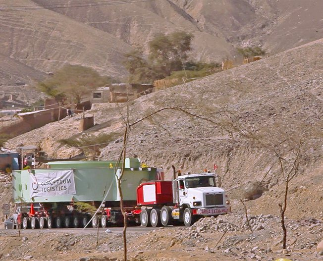 Conceptum Logistics - Mining - Mining equipment ex China to Peru