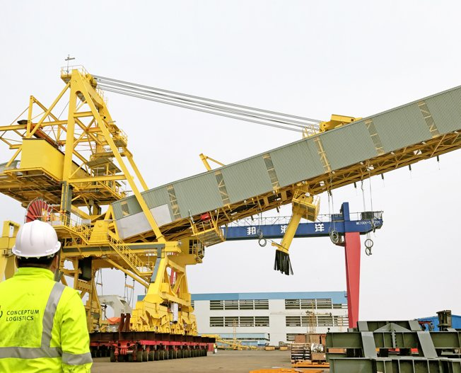 Conceptum Logistics - Mining - Ship loader ex China to Guinea