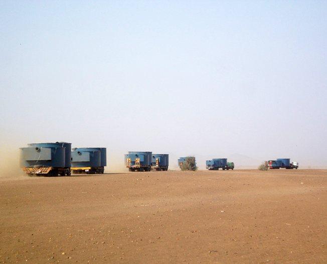 Conceptum Logistics - Tanks im LKW Konvoy aus Suedafrika nach Eritrea