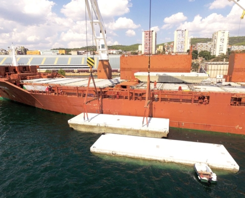 Conceptum Logistics - Breakwater pontoons ex Croatia to Canada