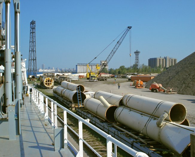 Conceptum Logistics - Transport of a dismantled MDF Plant in the USA